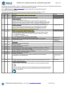 IEC 60601-1: Download Free Compliance Documents   MECA
